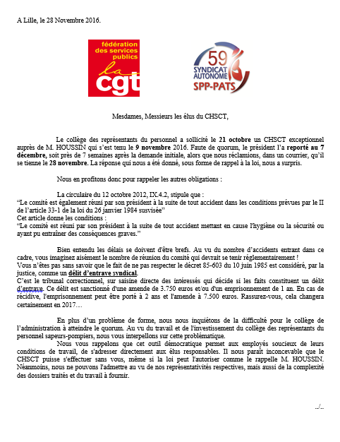 Cgt sdis59 for Election chsct